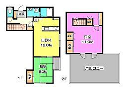 STテラスハウス[3階]の間取り