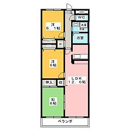 リブラ鶴羽[2階]の間取り