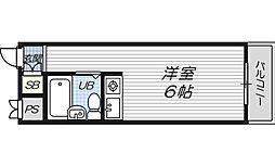 サニーハイツ天満[4階]の間取り