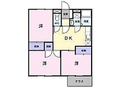 エルディム鶴川[1階]の間取り