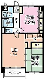 さくら都市マンション3番館[212号室 C号室]の間取り