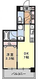 アクアプレイス京都洛南II[D304号室号室]の間取り