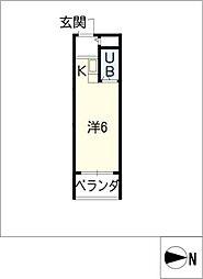 スタジオ26[1階]の間取り