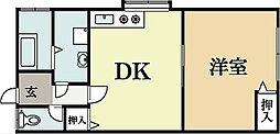 とぅわーれ・いのうち[1階]の間取り