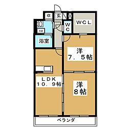 カメリア・ヒルズ中山台[4階]の間取り