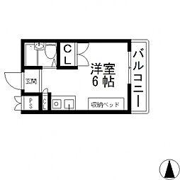 コーポタナベ[403号室号室]の間取り