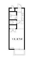 神奈川県川崎市麻生区百合丘1丁目の賃貸アパートの間取り