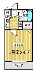 コンフォートマンション大宮[625号室]の間取り