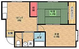ポワァグロンド[5階]の間取り