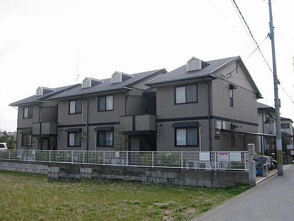 京都府京都市右京区嵯峨広沢池下町の賃貸アパートの外観