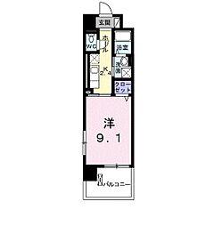 広島高速交通アストラムライン 祇園新橋北駅 徒歩9分の賃貸マンション 2階1Kの間取り