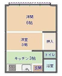 静岡県静岡市駿河区丸子芹が谷町10丁目の賃貸アパートの間取り
