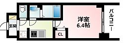 Osaka Metro御堂筋線 東三国駅 徒歩6分の賃貸マンション 4階1Kの間取り