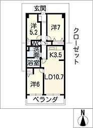 グラン・アベニュー富船[5階]の間取り