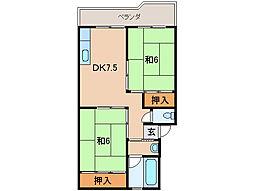 フェリースマンション[2階]の間取り