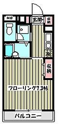 ボヌール南大沢[3階]の間取り