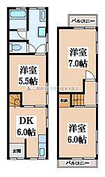 [一戸建] 大阪府東大阪市吉田8丁目 の賃貸【/】の間取り
