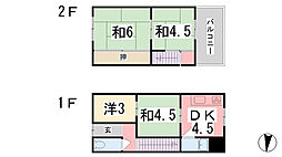 [一戸建] 兵庫県姫路市南畝町2丁目 の賃貸【/】の間取り