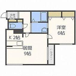 Comfort栄通[1階]の間取り