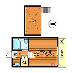 レオパレス田無第2[1階]の間取り
