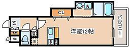 兵庫県神戸市中央区琴ノ緒町1丁目の賃貸マンションの間取り