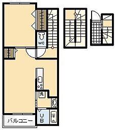 エテルノ宮 A[302号室]の間取り