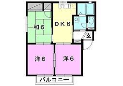 フォーレス森田[A-102 号室号室]の間取り