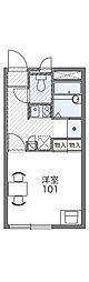 京阪本線 牧野駅 徒歩15分の賃貸アパート 1階1Kの間取り