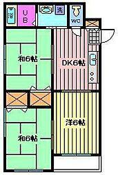 チェリーコーポ[4D号室]の間取り
