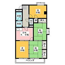 メゾン島田[5階]の間取り