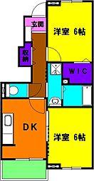 静岡県浜松市東区有玉南町の賃貸アパートの間取り
