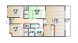 ドマーニ三田横山[3階]の間取り
