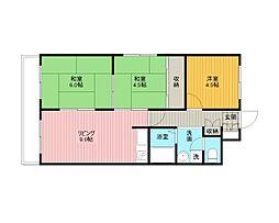 文京台グレースハイツ[4階]の間取り