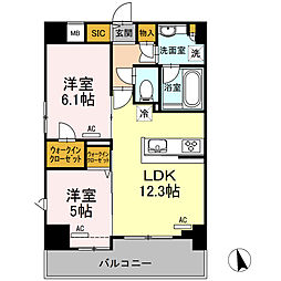 (仮)高島平プロジェクト[401号室]の間取り