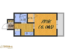 大阪府堺市堺区東雲西町1丁の賃貸マンションの間取り