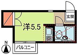 シダーハイム野方[2階]の間取り