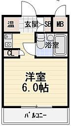 フェルティ・シャトー守口[4階]の間取り
