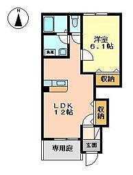 ルナ プレーナ[1階]の間取り