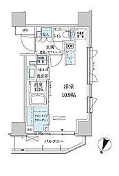 東京都港区赤坂3丁目の賃貸マンションの間取り