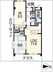 ラ・コリーヌ鎌倉台[1階]の間取り