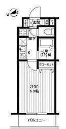 プレール・ドゥーク西新宿[303号室号室]の間取り