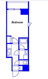 JR京浜東北・根岸線 西川口駅 徒歩3分の賃貸マンション 5階1Kの間取り