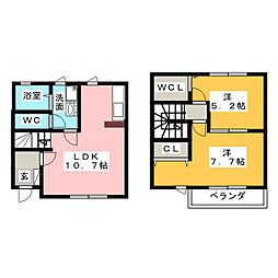 [テラスハウス] 三重県名張市東町 の賃貸【三重県 / 名張市】の間取り