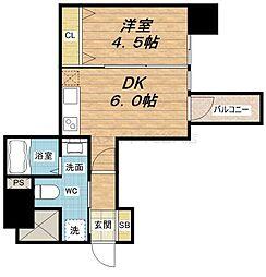 セレニテ本町ROJI02[10階]の間取り
