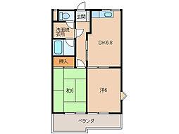 グリーンフル紀三井寺[2階]の間取り