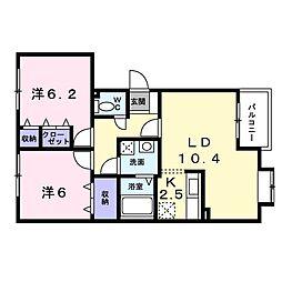 北海道札幌市白石区菊水上町二条3丁目の賃貸マンションの間取り