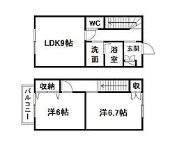 [テラスハウス] 静岡県浜松市東区有玉台3丁目 の賃貸【/】の間取り