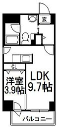 LEE東札幌B[703号室]の間取り