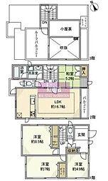 [一戸建] 神奈川県横浜市神奈川区片倉1丁目 の賃貸【/】の間取り