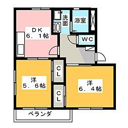 エスペランサ510[2階]の間取り